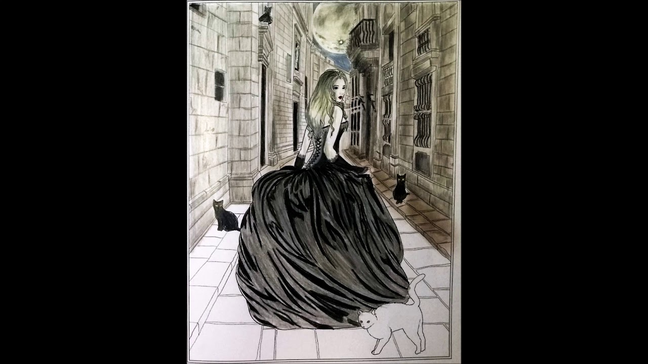 Coloring Lost Soul From Gothic Dark Fantasy Coloring Book By Selina Fenech
