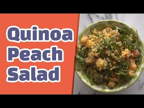 Peach Quinoa Salad with Sriracha Vinaigrette