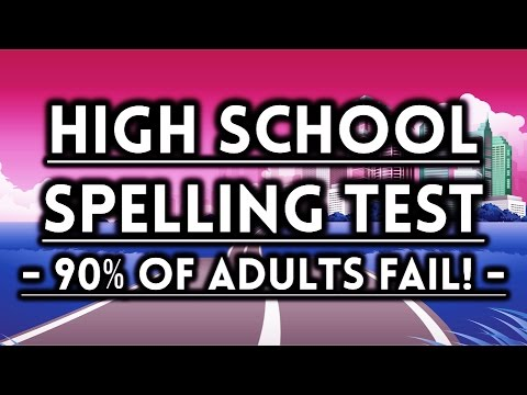 Can You High School Spelling Test