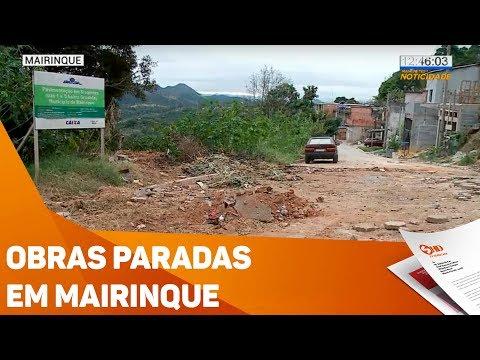 Obras paradas em Mairinque - TV SOROCABA/SBT