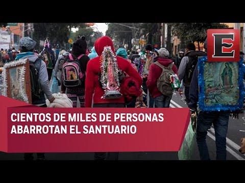 Peregrinos de todo México visitan a la Virgen de Guadalupe