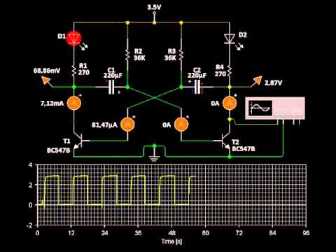 Arduino Project Astable Multivibrator With Transistors