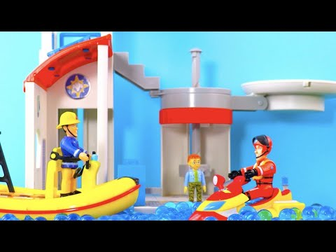 Fireman Sam Toys   Fire Station & Ocean Rescue Centre   Unboxing & Play   Kids Movie