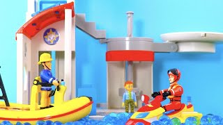 Fireman Sam Toys | Fire Station & Ocean Rescue Centre | Unboxing & Play | Kids Movie