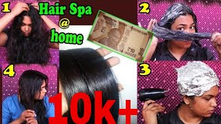 Hair Spa At Home with natural ingredients!!