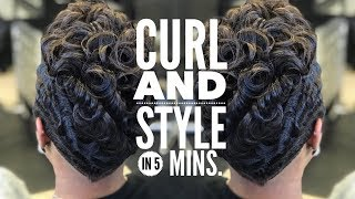 STEP BY STEP HOW TO CURL SHORT HAIR @CRAZYABOUTANGEL