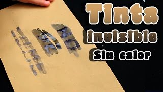 Tinta invisible con iodo y maicena │Revelado sin calor │Experimento de quimica