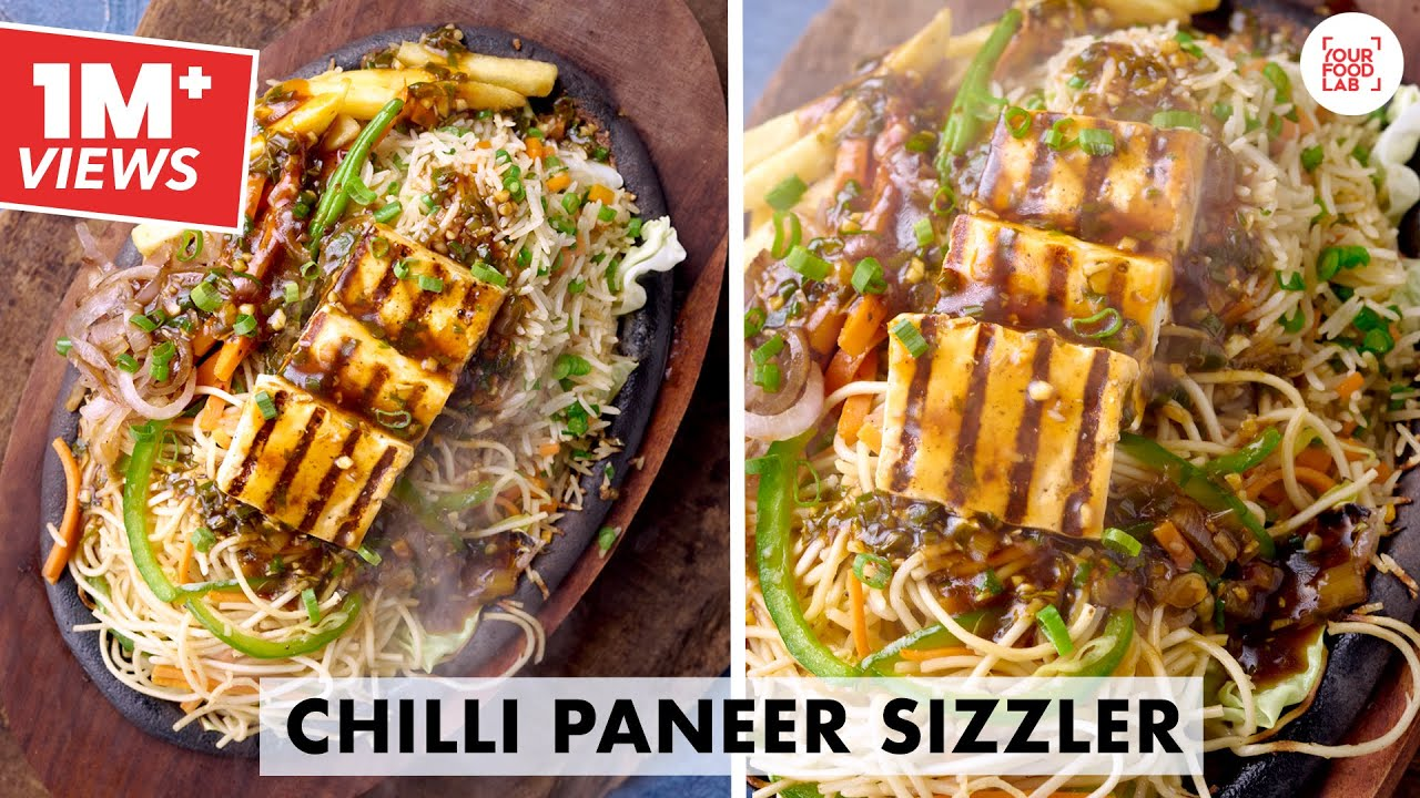 Chilli Paneer Sizzler Recipe   Chinese sizzler   Chef Sanjyot Keer