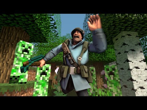 Minecraft, Но В Team Fortress 2?
