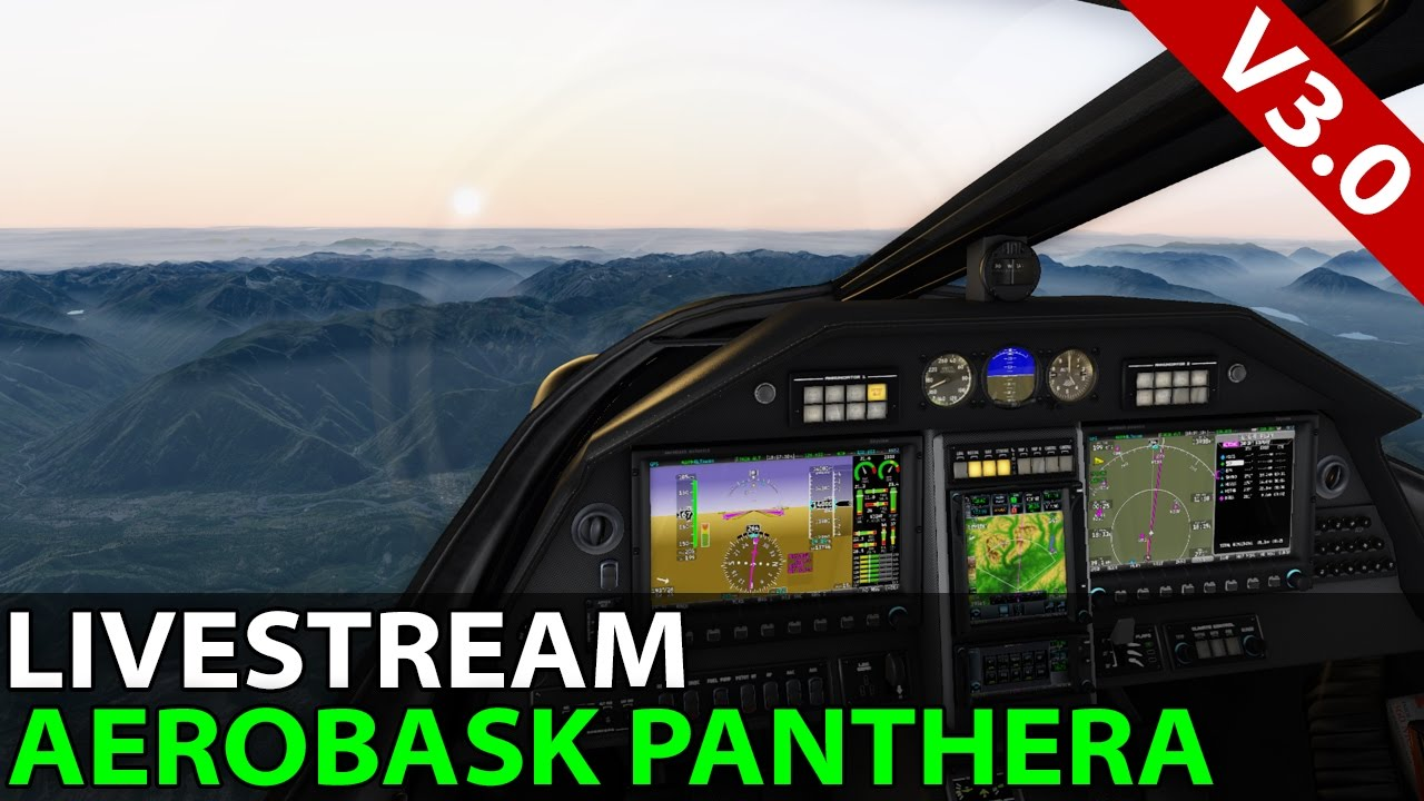 [Livestream] Chasing the Sunset, Aerobask Pipistrel Panthera v3 0 on  PilotEdge ✈️ 2017-03-26