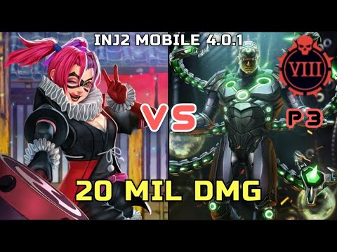 Injustice 2 Mobile 4 0 1 Batman Ninja Harley Quinn Vs Phase 3 T8 20 Mil Dmg Youtube
