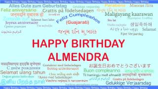 Almendra   Languages Idiomas - Happy Birthday