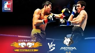 Бокс Astana Arlans vs Baku Fires 3:2 Всемирная серия-2016 / Boxing Worlds Kazakhstan vs Azerbaijan