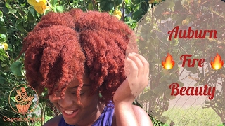@CupcakeDelect Auburn Fire Beauty | Colouring Natural Hair Using No Bleach