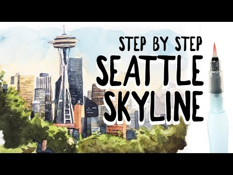 HOW TO PAINT THE SEATTLE SKYLINE