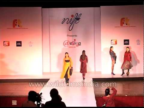 Models displaying different types of attire at fashion show in Delhi