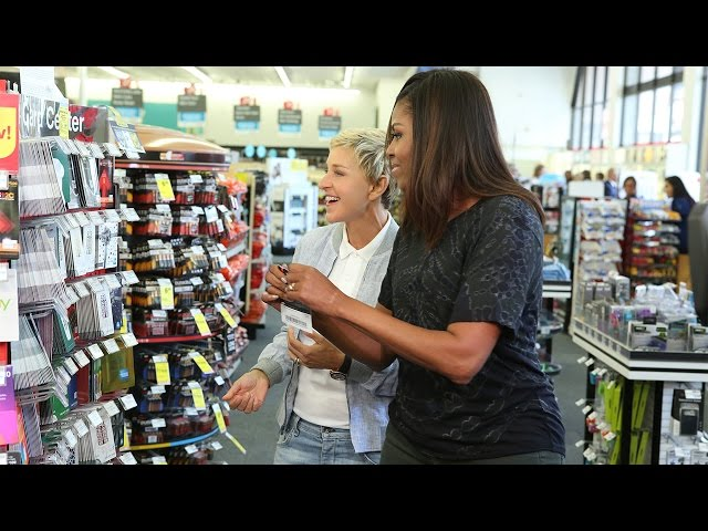 Ellen and First Lady Michelle Obama Go to CVS