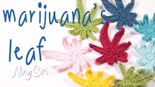How to crochet marijuana's leaf tutorial   ??????????