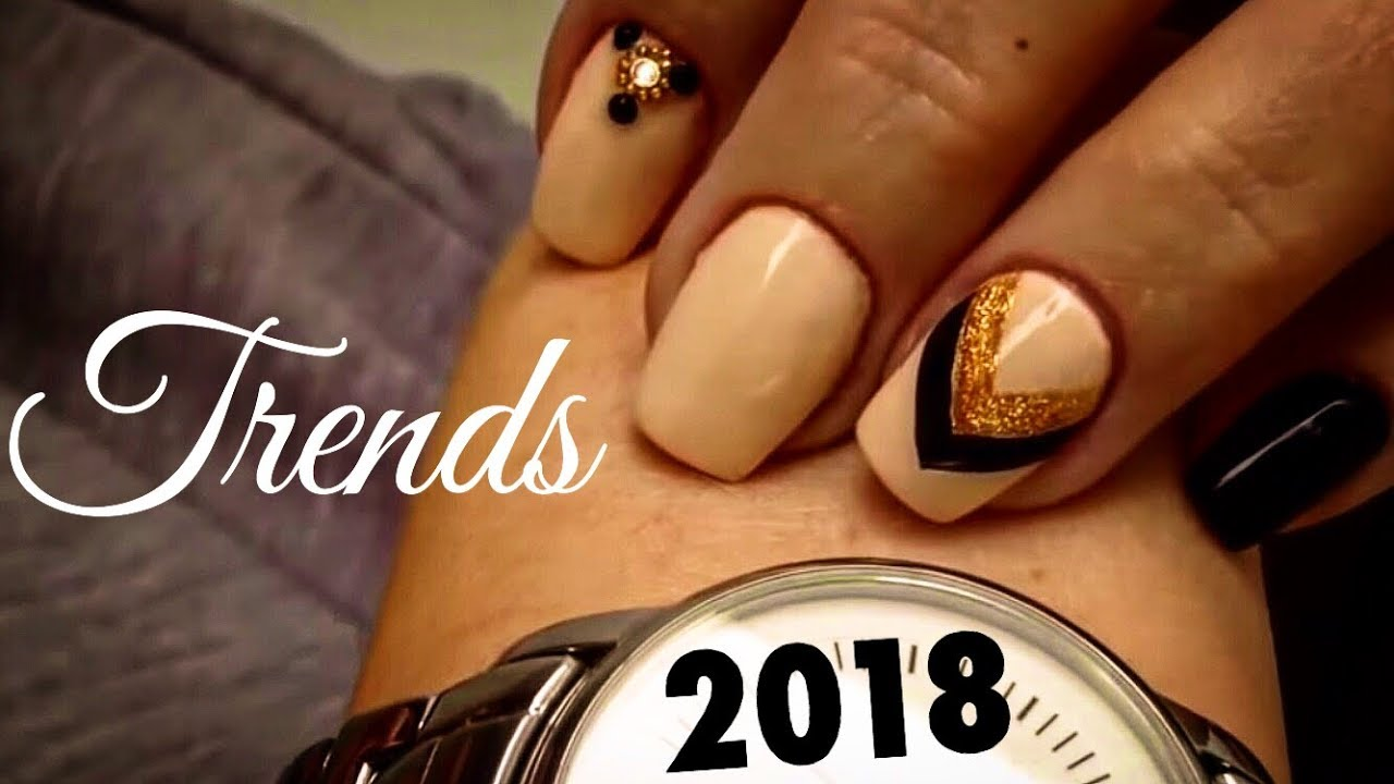 Nail art for beginners! NEW TECHNIQUE! Amazing nail art design of ...