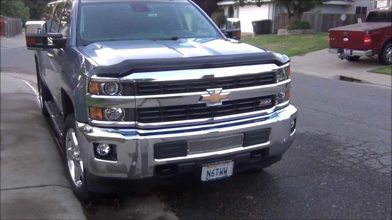 2500HD Chevy Silverado DIY Bumper Grill - Part 1 - YouTube