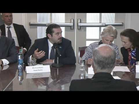 Meeting with Saad Hariri