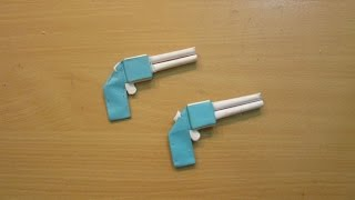 How to Make a Paper Pocket Mini Gun that Shoots rubber band - Easy Tutorial