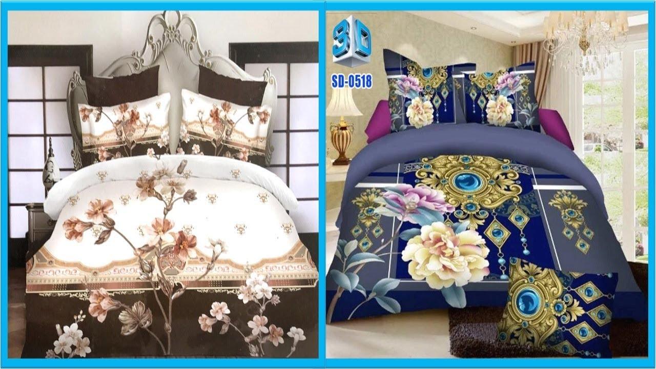 Most Romantic Bedsheets Designs || Double Bedsheet Designs