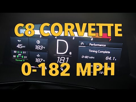 Watch the C8 Mid-Engine Corvette's Fuel Gauge Drop on a 182-MPH Top-Speed Run