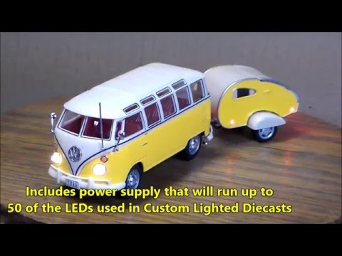 VW Samba with a camper