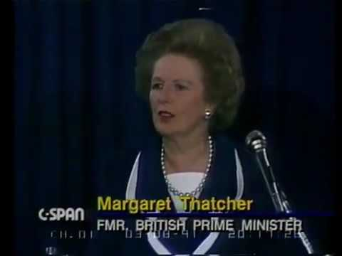 Alan Greenspan & Margaret Thatcher: NATO Alliance, Economics, Markets (1991)
