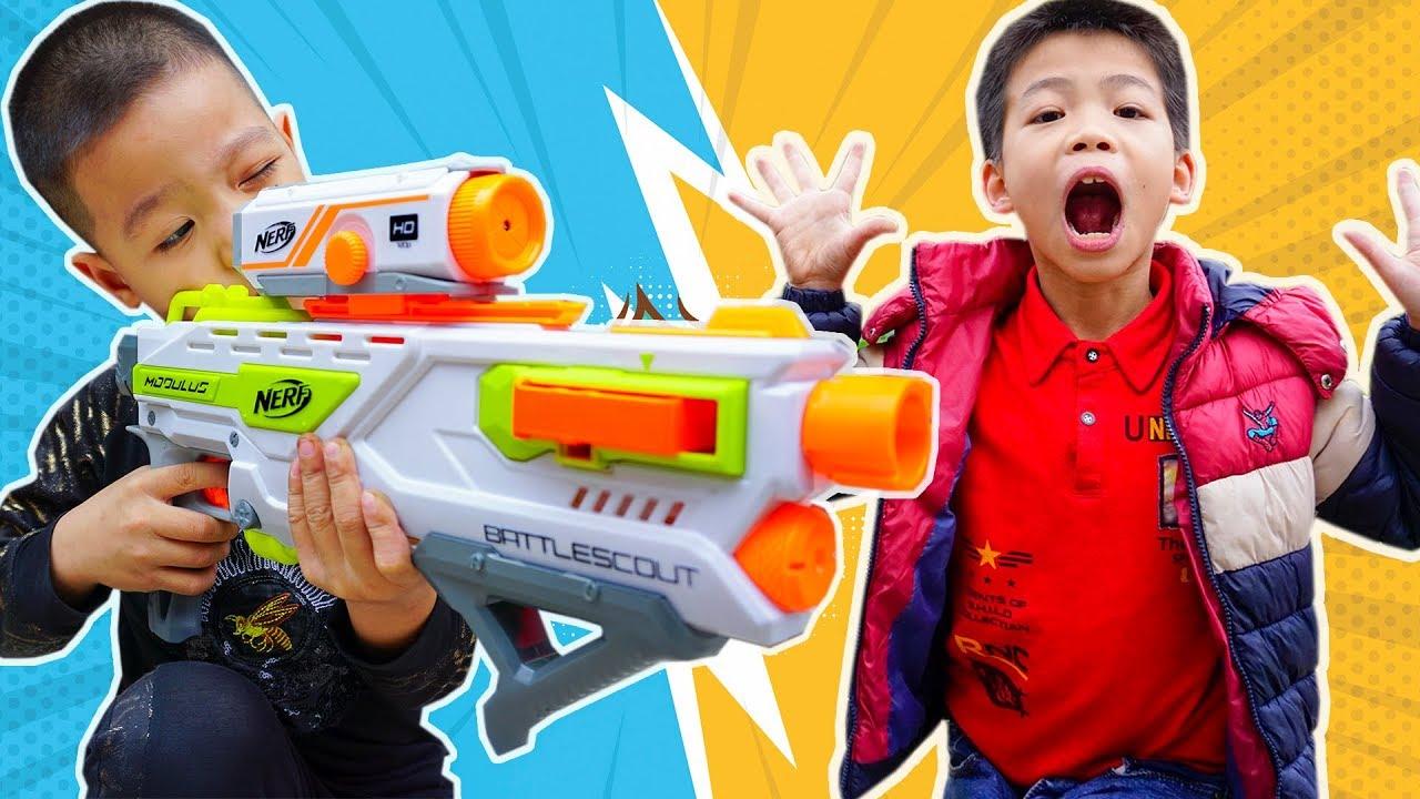 Đồ Chơi Bắn Súng Nerf –  Giải Cứu Đồng Đội Khỏi Đại Ca Nhút Nhát – Bo Gaming TV