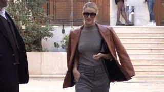 EXCLUSIVE : Rosie Huntington Whiteley goes to Vivienne Westwood fitting rooms in Paris
