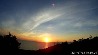 Sunset over Lake Michigan in 2 sec timelapse. July 3 2017, Pure Michigan