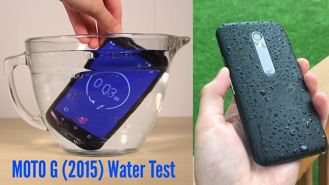 Moto G (3rd Gen) Water Test: Indoor U0026 Outdoor   YouTube