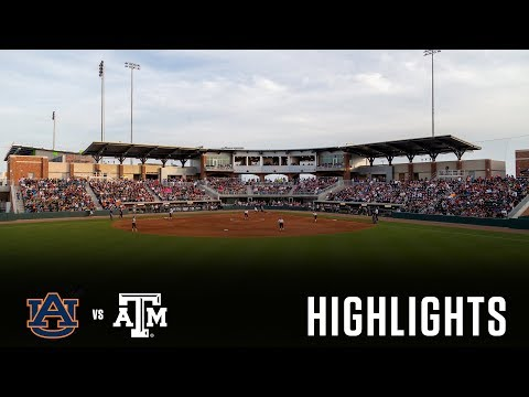 Softball: Highlights   A&M 3, Auburn 1