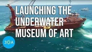 Underwater Museum of Art Deployment HIGHLIGHTS 🛥🌊🍍