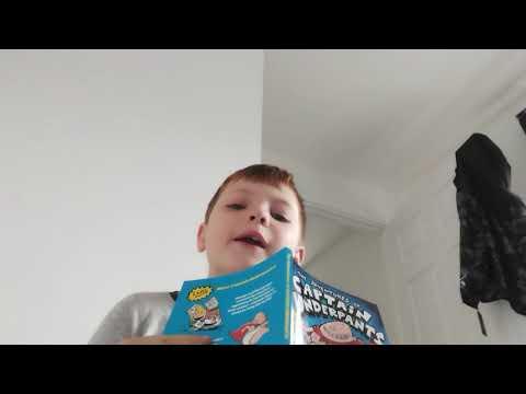 reading captain under pants part 2( reading with owen )