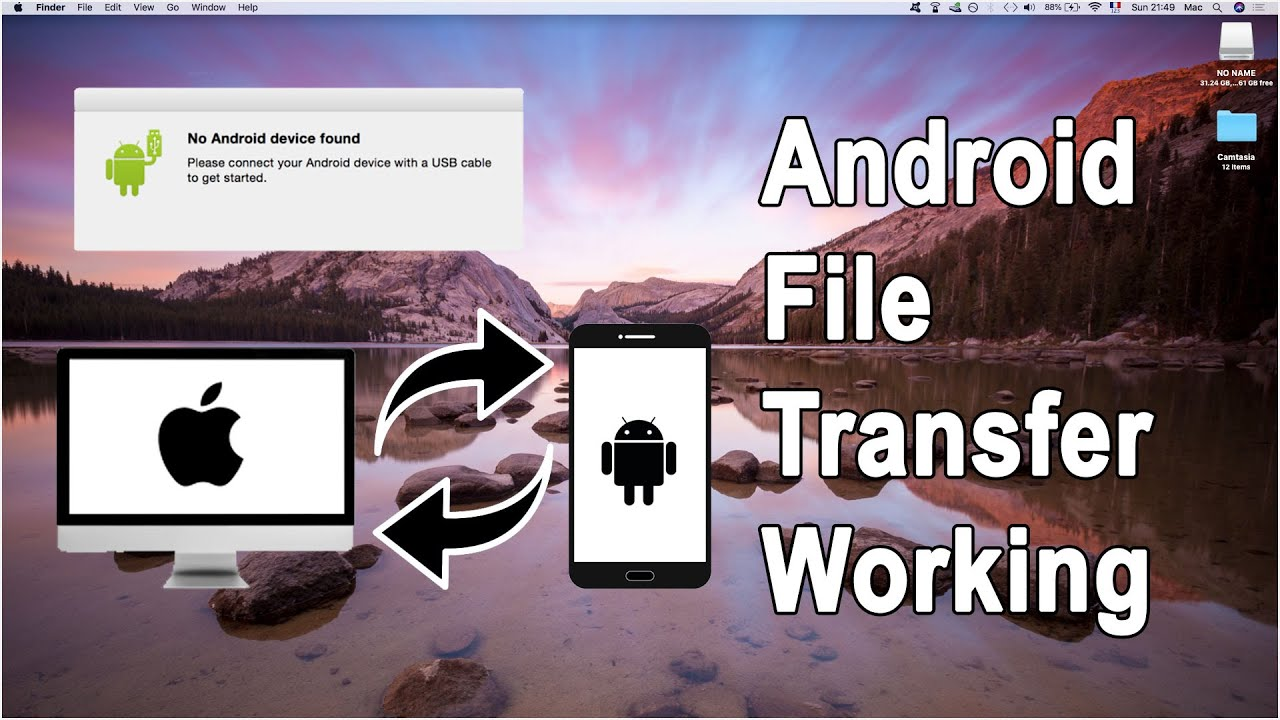 How to transfer files from android to mac os