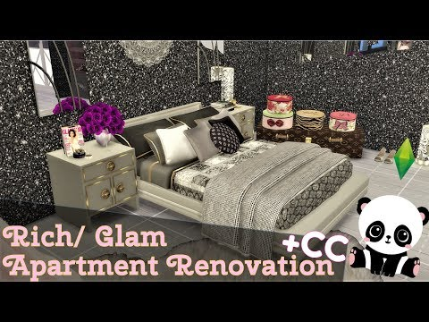 The Sims 4 | PANDA | Rich/Glam Apartment Renovation