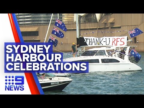 Sydney Gives Thanks To Firies On Australia Day | Nine News Australia