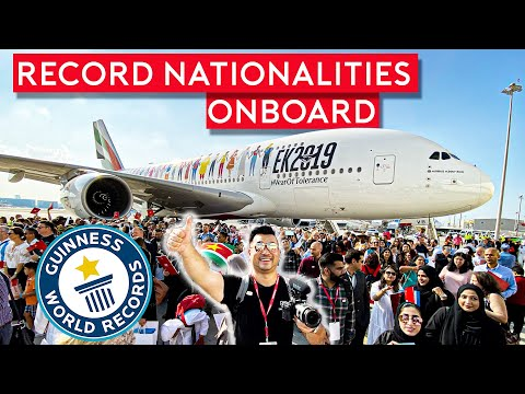 Download Emirates A380 World Record Flight For Most Nationalities Onboard Mp4 baru