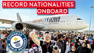 Emirates A380 World Record Flight For Most Nationalities Onboard