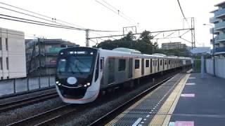 東急6020系(運用開始記念HM付) 回送列車 藤が丘駅 通過