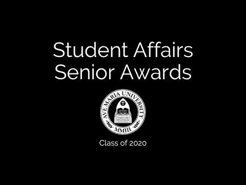 2020 Student Affairs Senior Awards Presentation