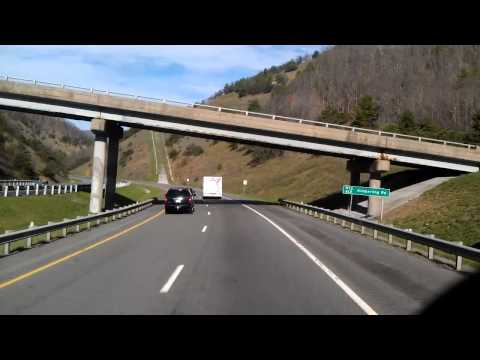 Interstate 77 North as we roll through Big Walker Mountain Tunnel in Virginia