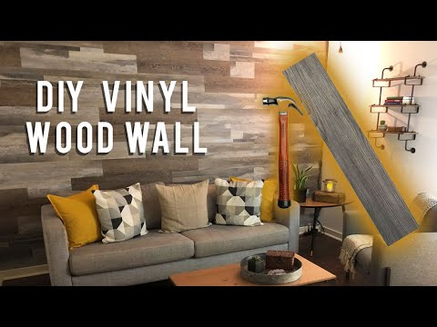 DIY WOOD WALL UNDER $40 // LOW VOC VINYL PLANKS