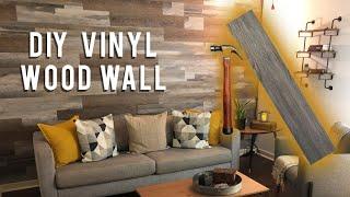 DIY WOOD WALL UNDER $40 // LOW VOC VINYL PLANKS