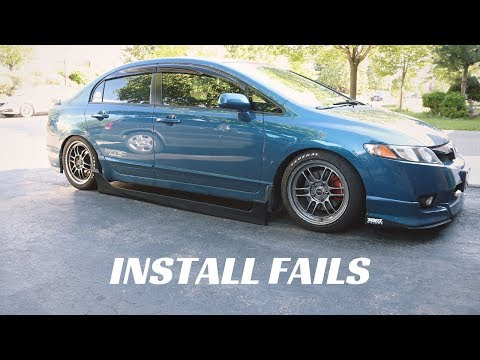 Civic Si New Install Attempts!