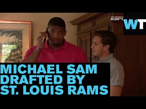 Michael Sam Kisses Boyfriend After NFL Draft By St. Louis Rams | What's Trending Now