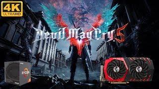 Devil May Cry 5 Gameplay @ 4K (AMD 2600X w/RX580)